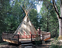 Teepee on deck